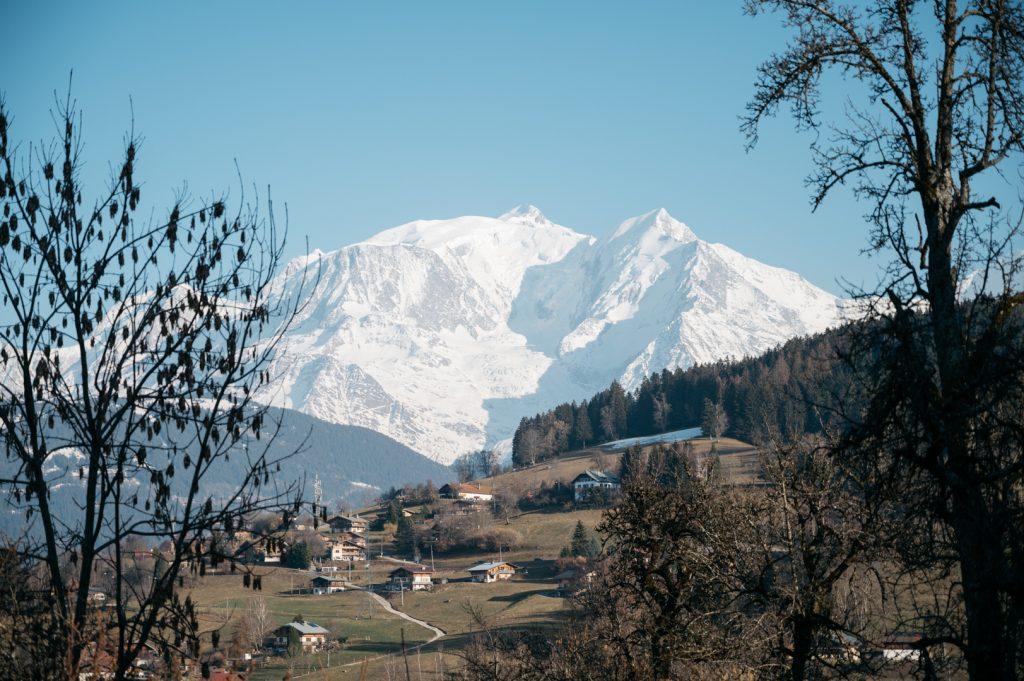 Vue du Mont Blanc Combloux