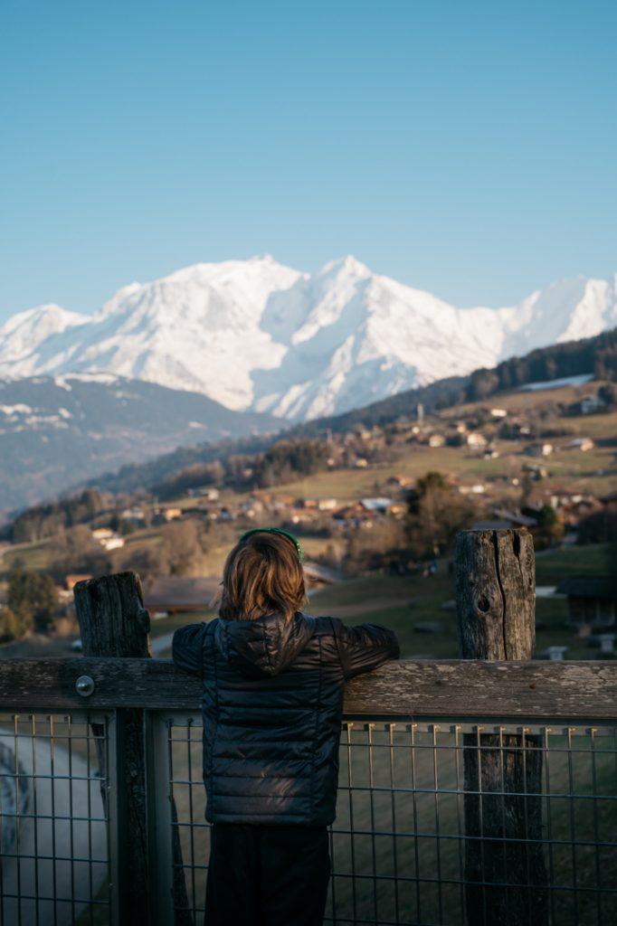 Vue sur le Mont Blanc Combloux