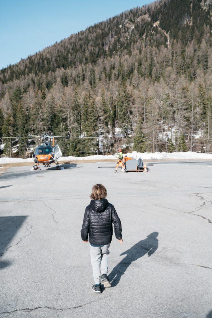 Hélicoptère en famille chamonix