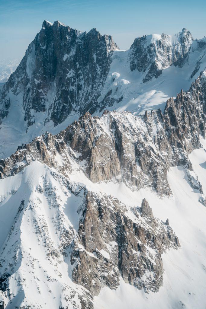 Massif du mont blanc vue du ciel