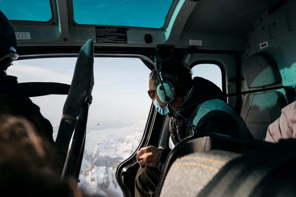 Hélicoptère Mont Blanc