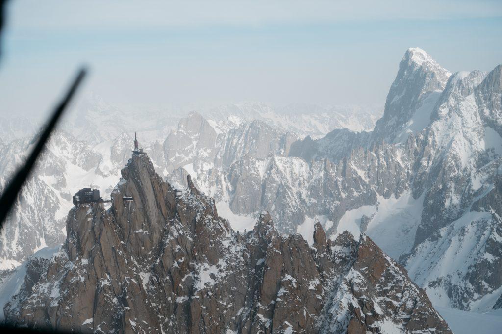 Mont Blanc en famille hélico