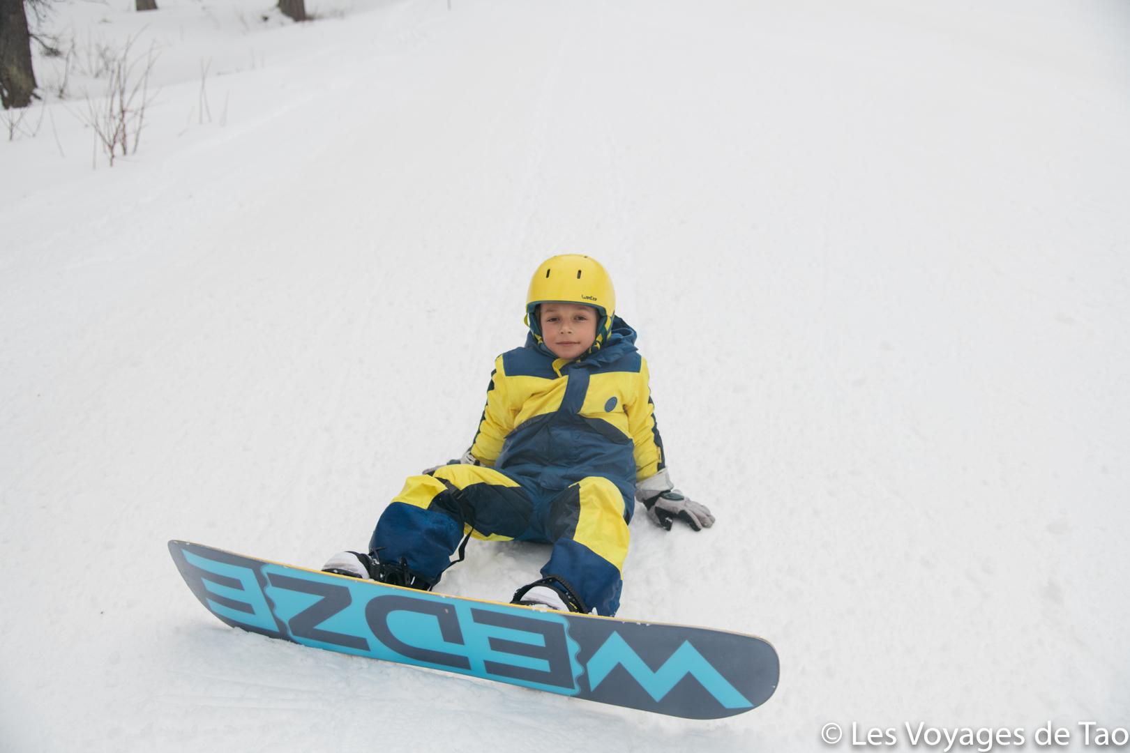 Snowboard decathlon enfant