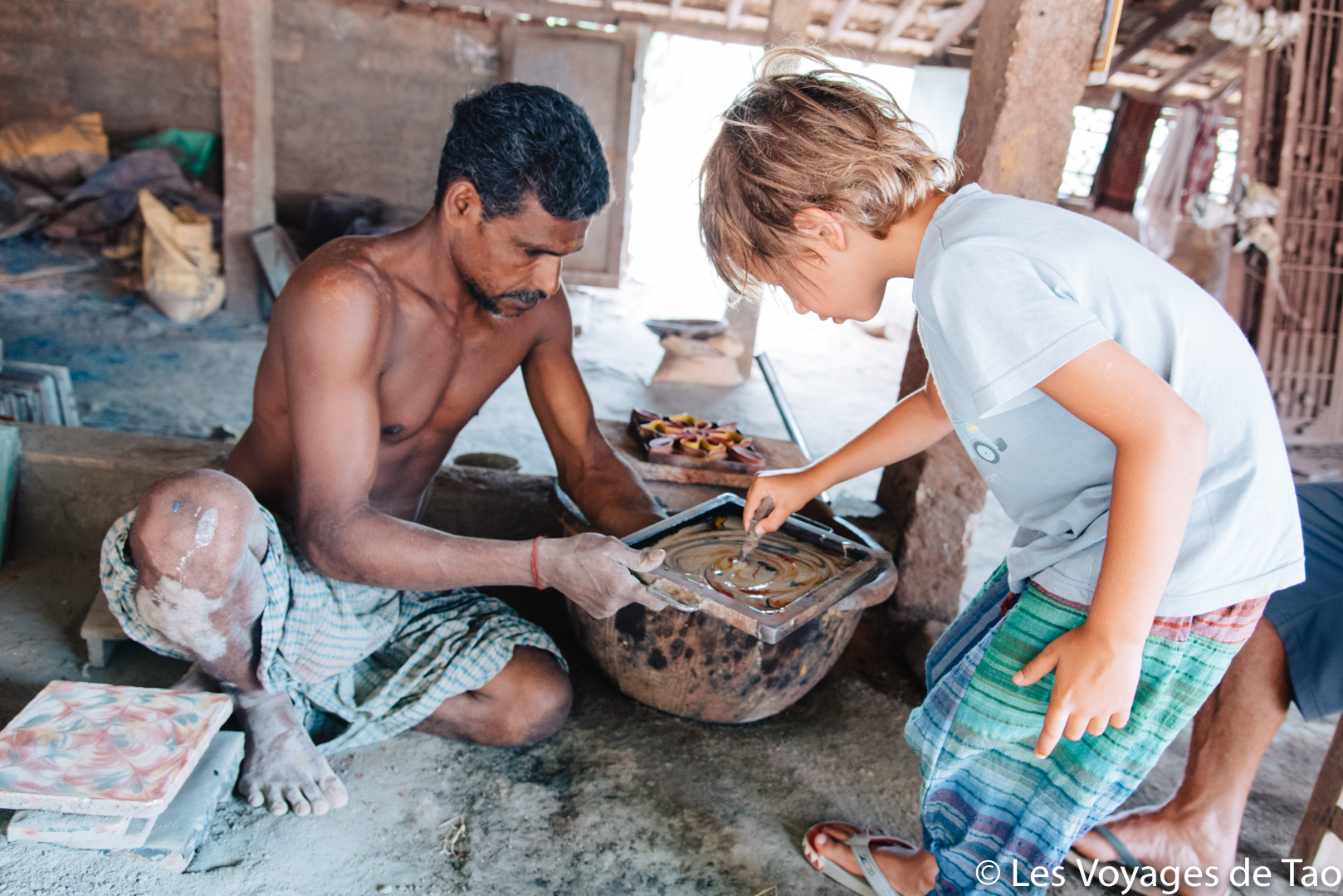 Tamil Nadu avec un enfant