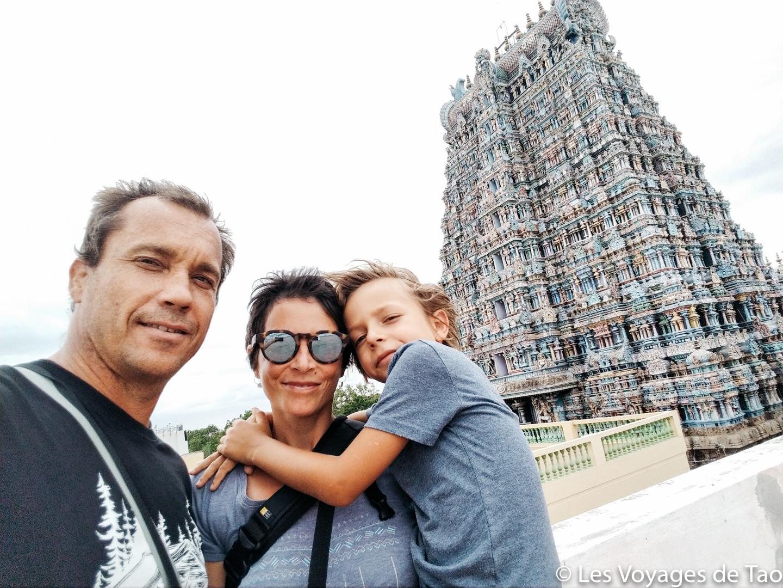 temple Sri Meenaskshi en famille