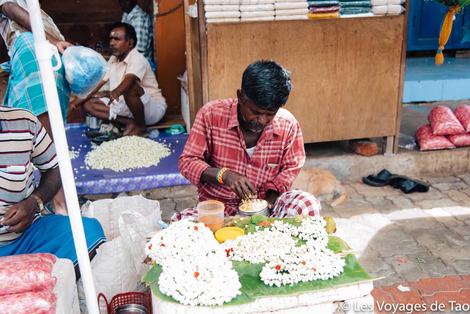 Marché aux fleurs Madurai