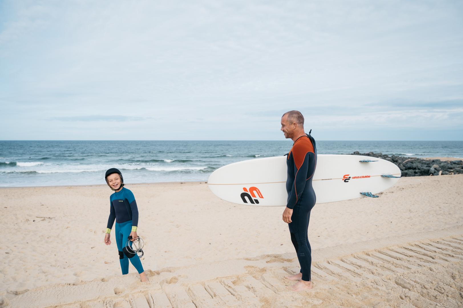 Surf en famille en france
