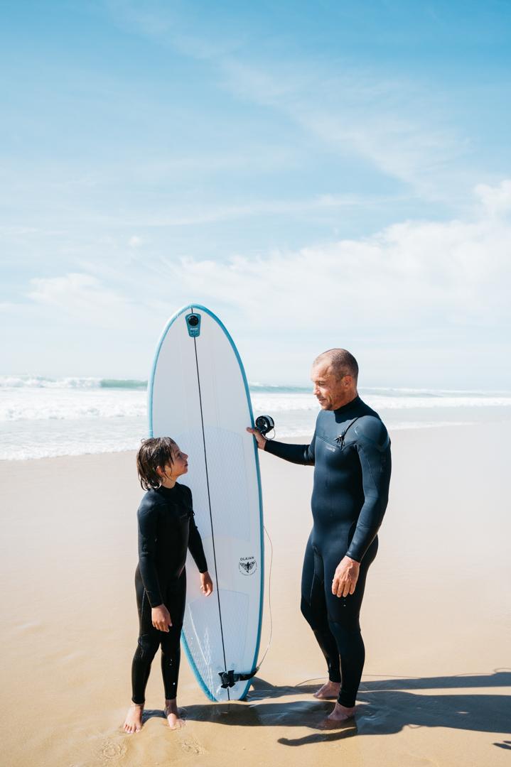 Surfer en famille