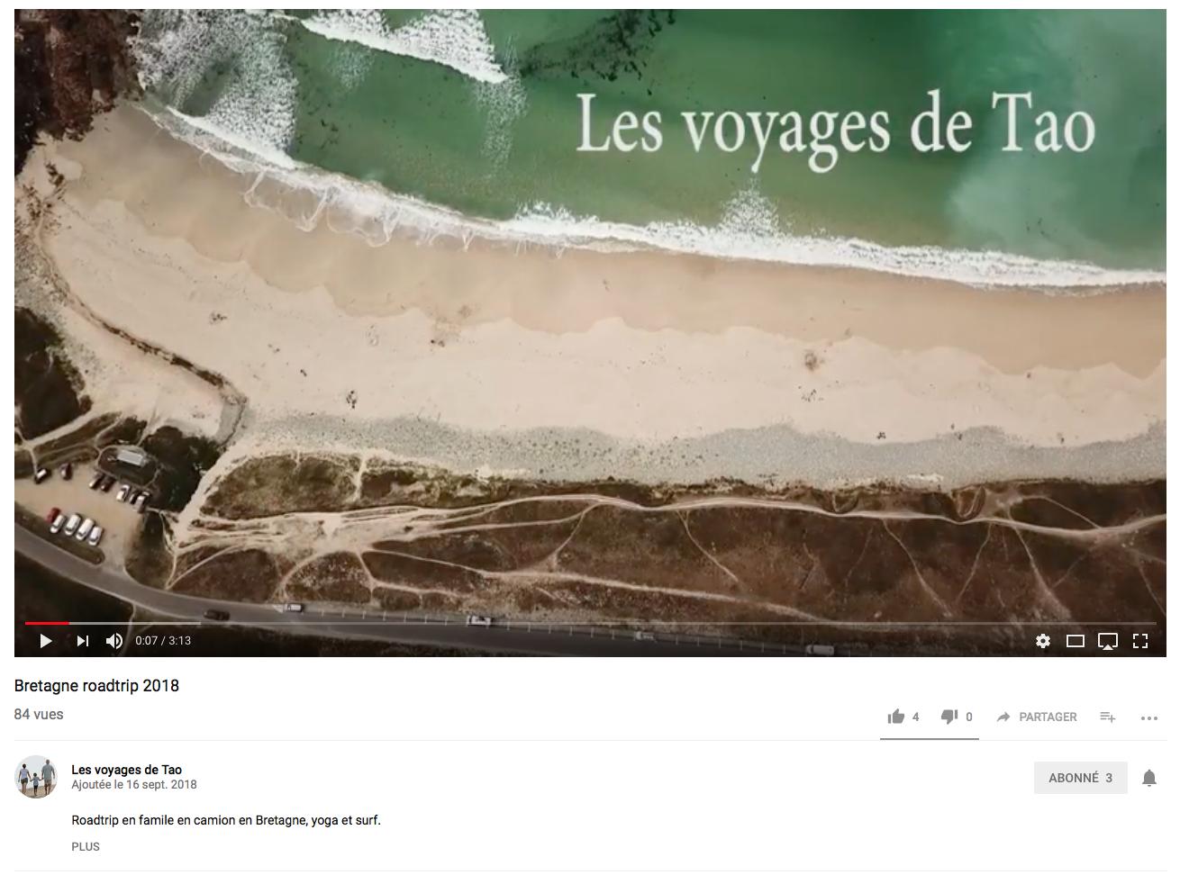 Vidéo Les voyages de Tao