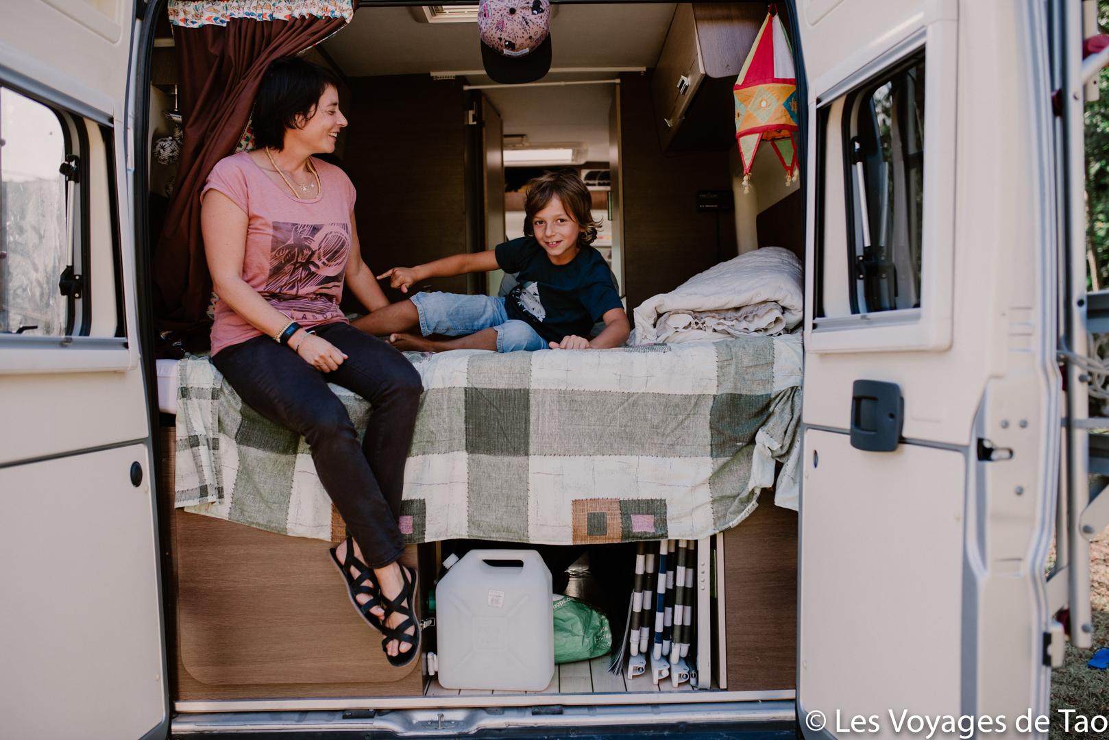 Dormir en Van avec des enfants